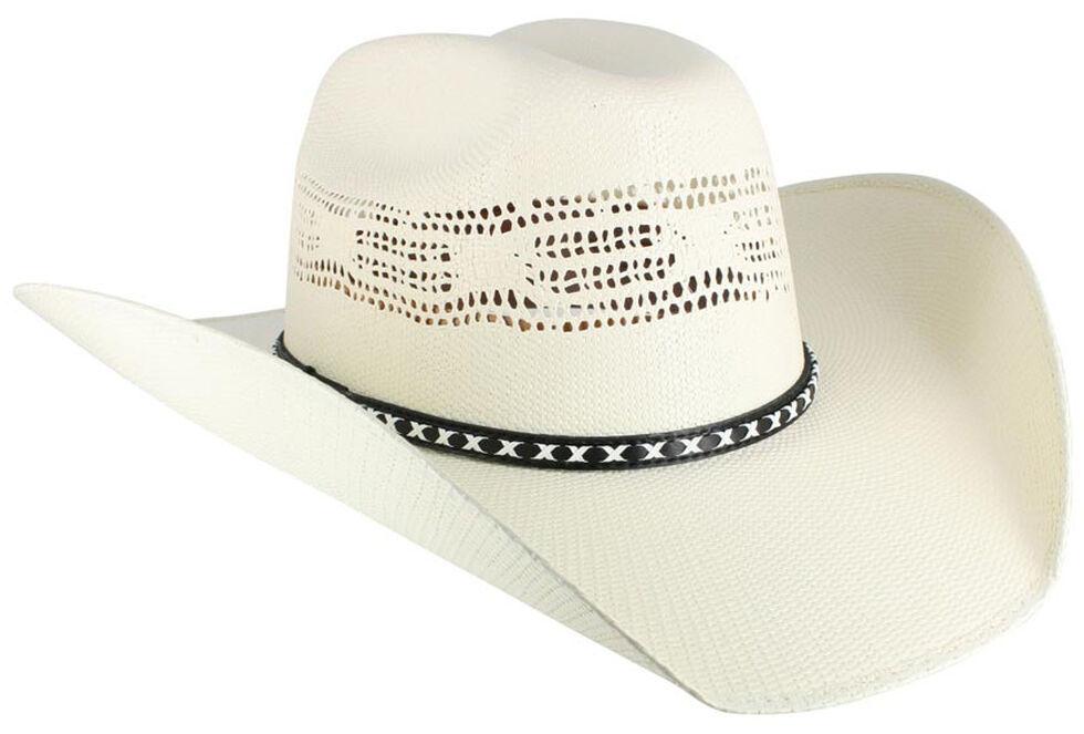 Cody James Men's Bangora Straw Cowboy Hat, Natural, hi-res