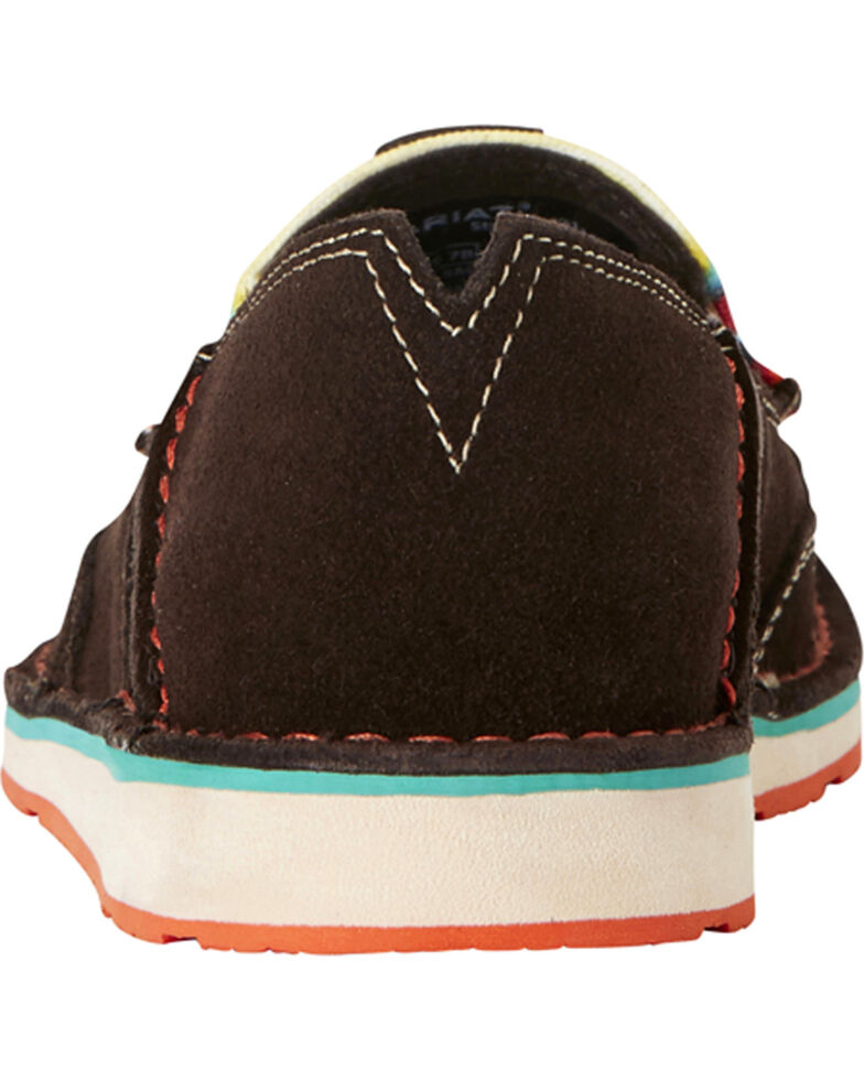 Ariat Women's Chocolate Serape Stripe Cruiser Shoes - Moc Toe, Chocolate, hi-res