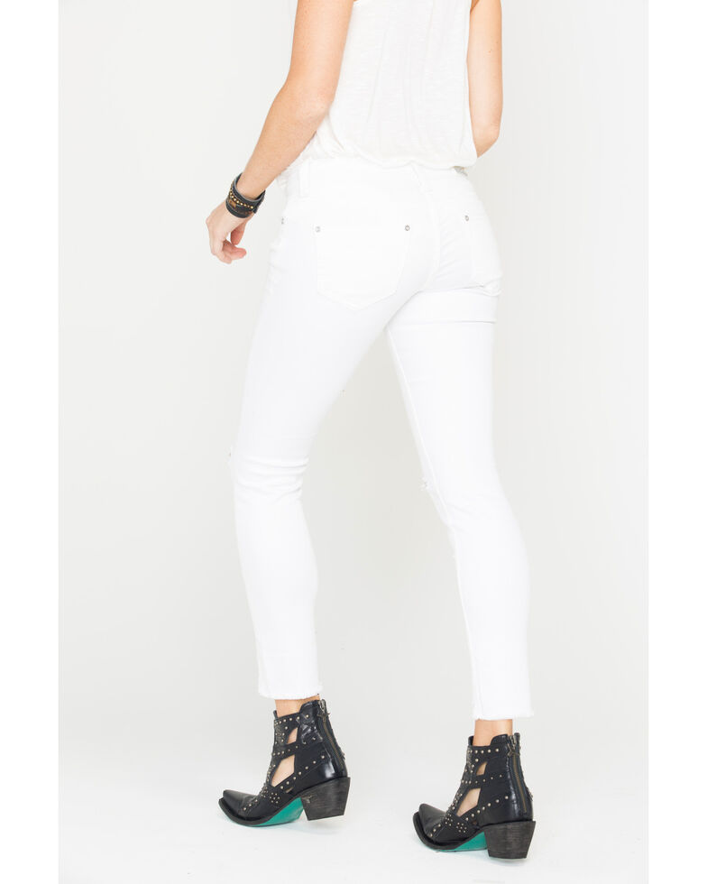 Grace in LA Women's White Simply Skinny Embroidered Jeans - Skinny, White, hi-res