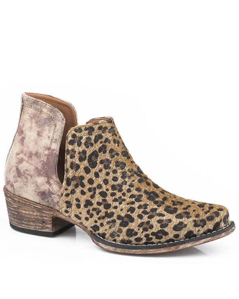 Roper Women's Ava Fashion Booties - Snip Toe, Tan, hi-res