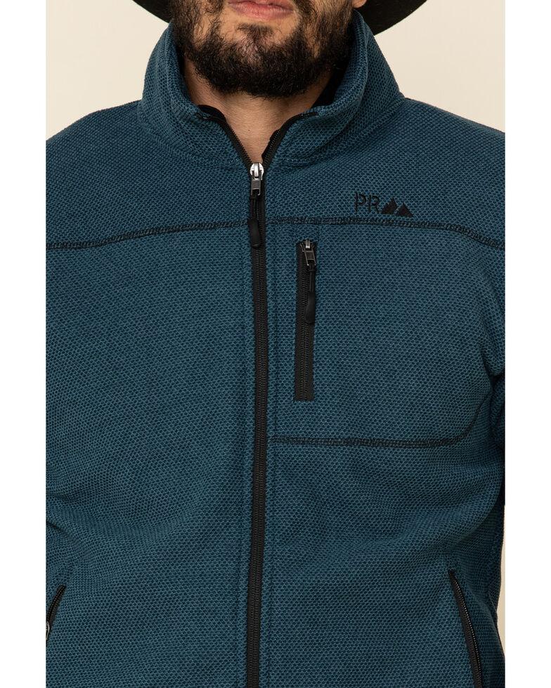 Powder River Outfitters Men's Teal Waffle Melange Knit Zip-Front Jacket , Teal, hi-res