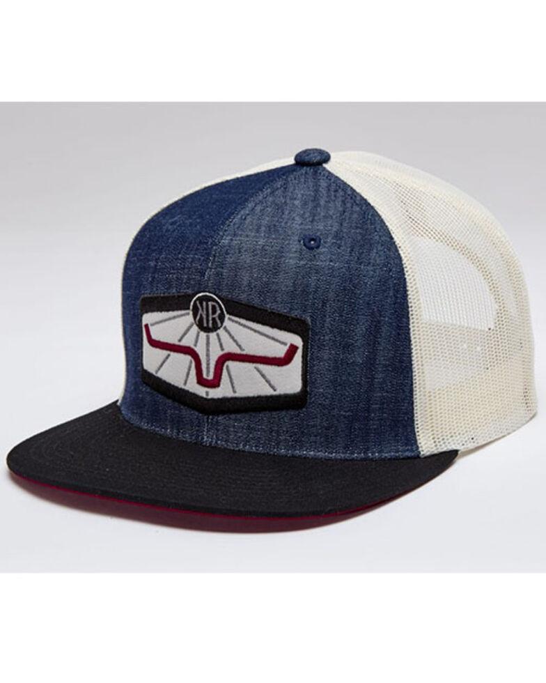 Kimes Ranch Men's Indigo Rays Original Mesh-Back Trucker Cap , Indigo, hi-res