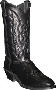 Abilene Men's Black Dress Cowboy Boots - Square Toe , Black, hi-res