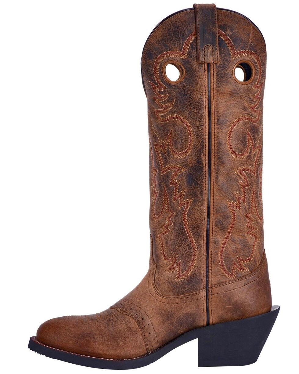 Laredo Men's Hank Western Boots - Round Toe, Brown, hi-res