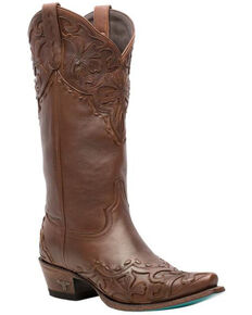 Lane Women's Lilly Western Boots - Snip Toe, Wine, hi-res