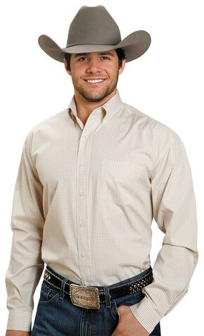 Stetson Plaid Button Shirt, Yellow, hi-res