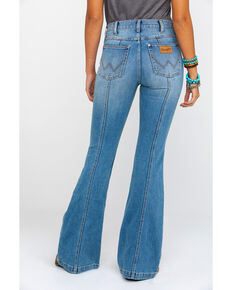 Wrangler Modern Women's Heritage Seamed Light Flare Jeans , Blue, hi-res