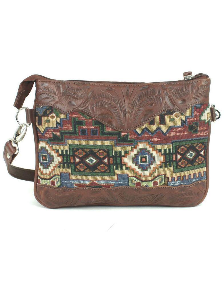 American West Women's Bella Beau Crossbody Bag, Brown, hi-res