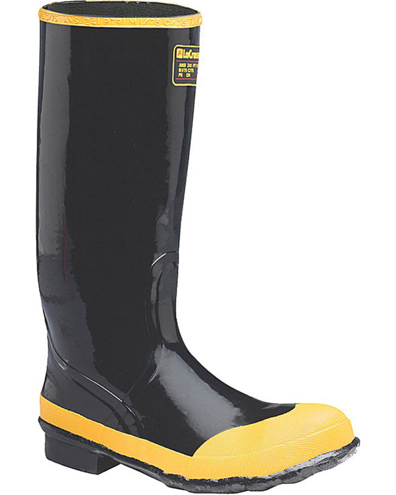 LaCrosse Men's Economy Knee Work Boots - Steel Toe, Black, hi-res
