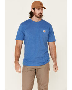 Carhartt Men's Medium Blue Loose Fit Pocket Short Sleeve Work T-Shirt , Medium Blue, hi-res