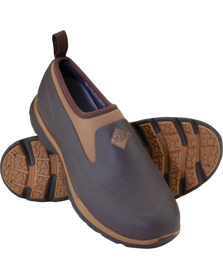 Muck Men's Brown Pro Low Shoes , Bark, hi-res
