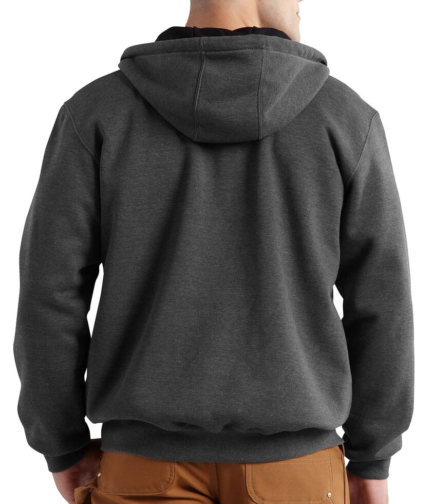 Carhartt Rain Defender Rutland Thermal-Lined Hooded Zip-Front Jacket, Grey, hi-res