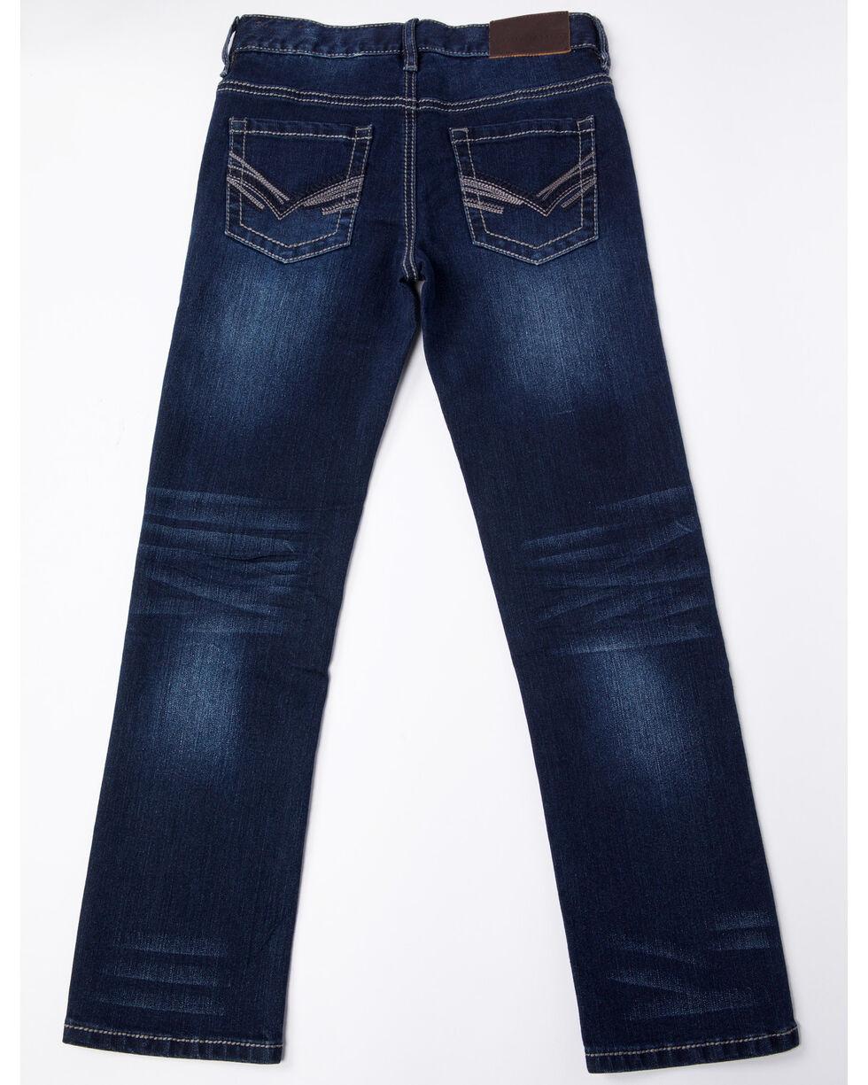 Cody James Boys' Stretch Slim Indigo Denim Straight Jeans , Blue, hi-res