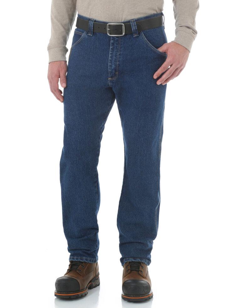 Wrangler Riggs Men's Advanced Comfort Straight Work Jeans , Midstone, hi-res