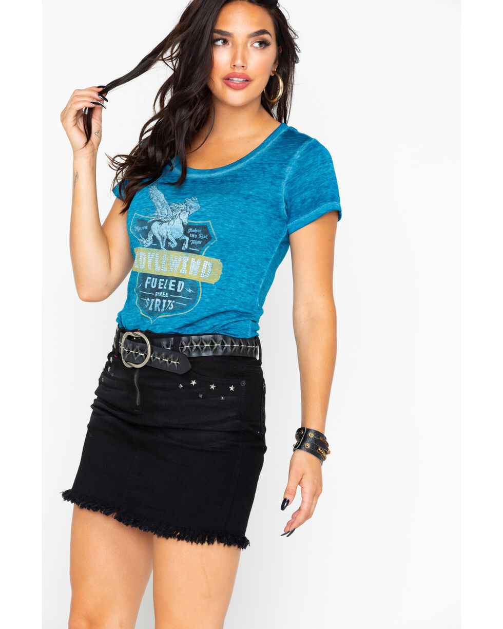 Idyllwind Women's Idyllwind Fueled by Tee, Blue, hi-res