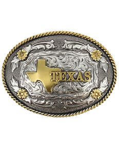 Cody James Men's Oval Texas Belt Buckle, Multi, hi-res