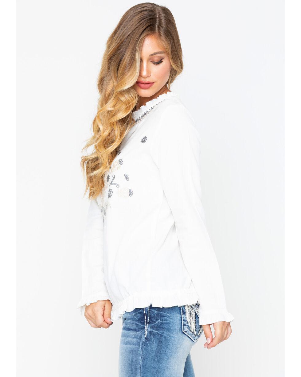 MI OH MI Women's Embroidered Natural Top , Cream, hi-res