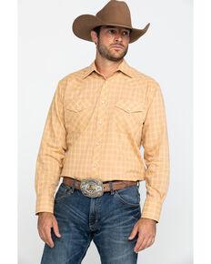 Roper Men's Classic Butterscotch Plaid Long Sleeve Western Shirt  , Brown, hi-res