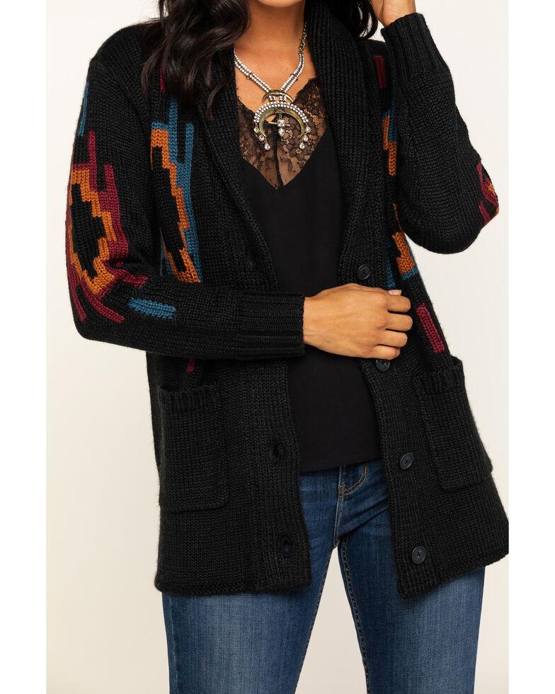 Idyllwind Women's Aztec Midnight Cardigan, Black, hi-res