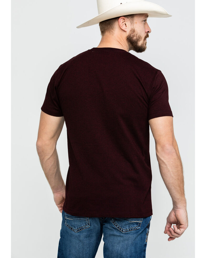 Cinch Men's Burgundy Logo Graphic T-Shirt  , Burgundy, hi-res
