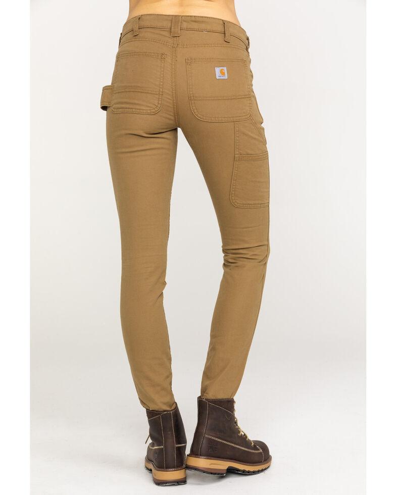 Carhartt Women's Slim-Fit Crawford Pants , Tan, hi-res