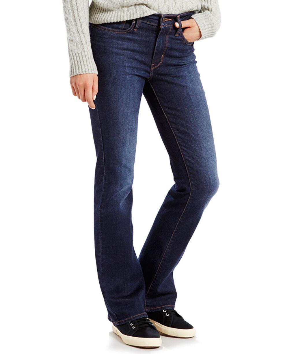 Levi's Women's Medium Fade Boot Cut Jeans, Blue, hi-res