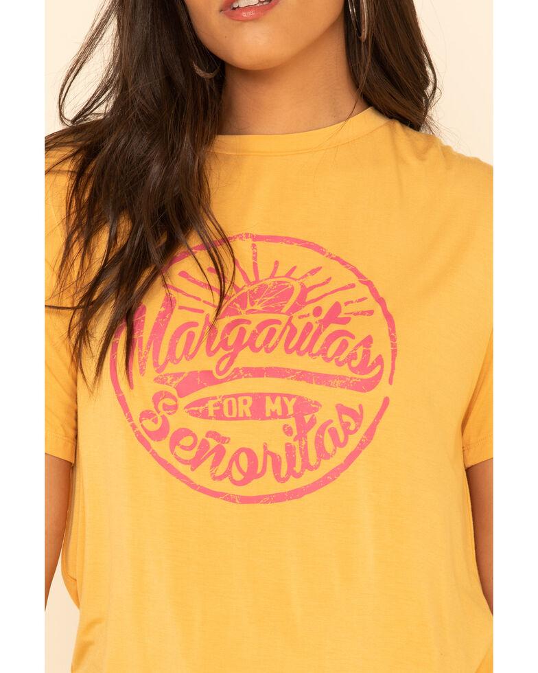 Rock & Roll Denim Women's Mustard Margaritas For My Senoritas Graphic Tee, Dark Yellow, hi-res