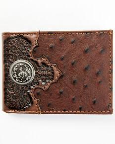 Cody James Men's Bifold Ostrich Wallet, Brown, hi-res