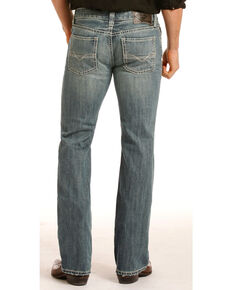 Rock & Roll Cowboy Men's Pistol Medium Wash Jeans - Straight Leg, Indigo, hi-res