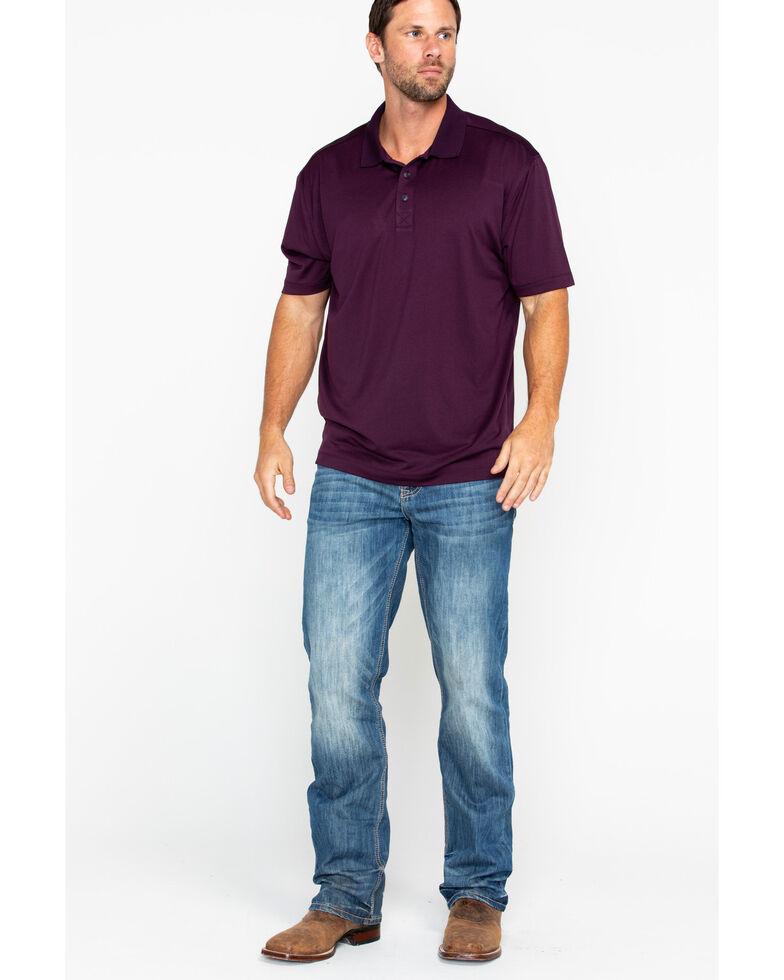 Cody James Men's Purple Short Sleeve Polo Shirt, Purple, hi-res