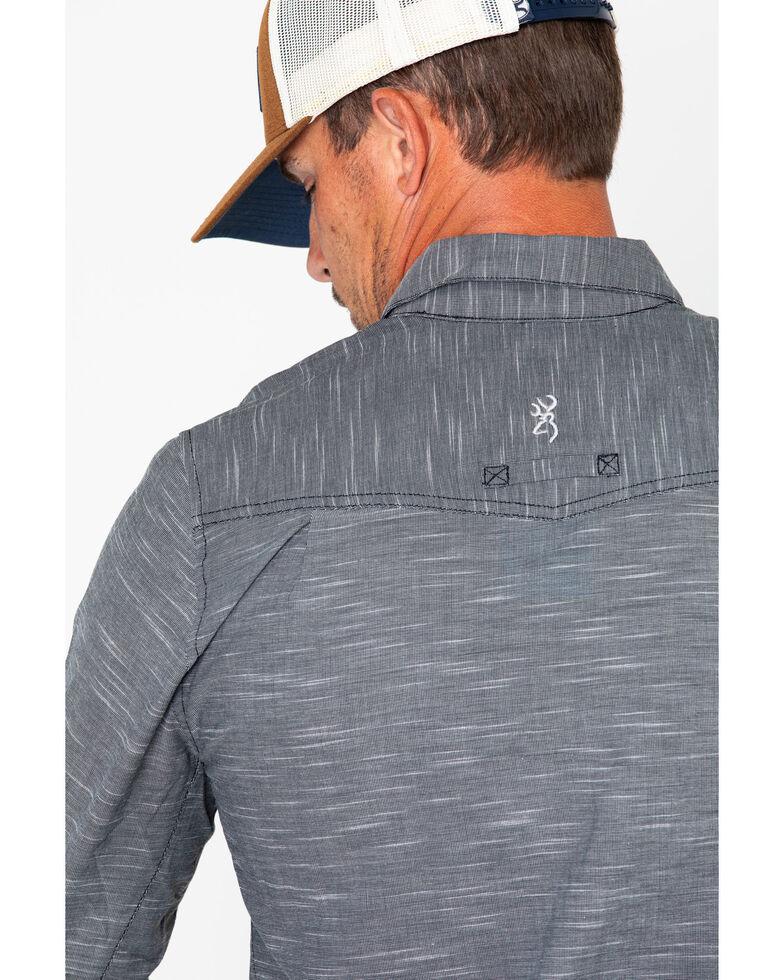 Browning Men's Sanborn Button-Down Collared Long Sleeve Shirt , Black, hi-res