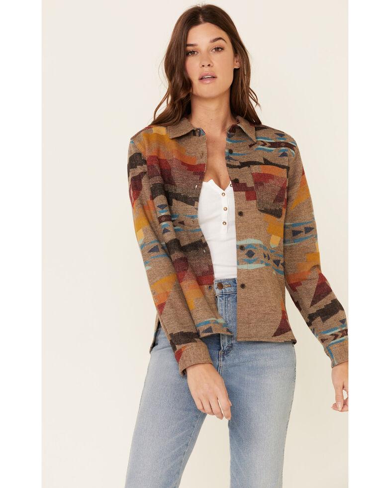 Pendleton Women's Jacquard Lodge Long Sleeve Western Shirt , Multi, hi-res