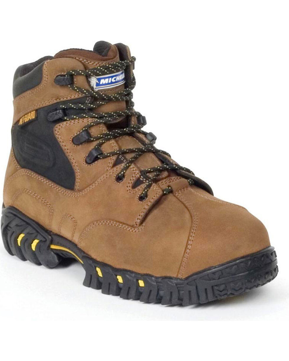 Michelin Men's Pilot Exalto Work Boots - Steel Toe, Brown, hi-res