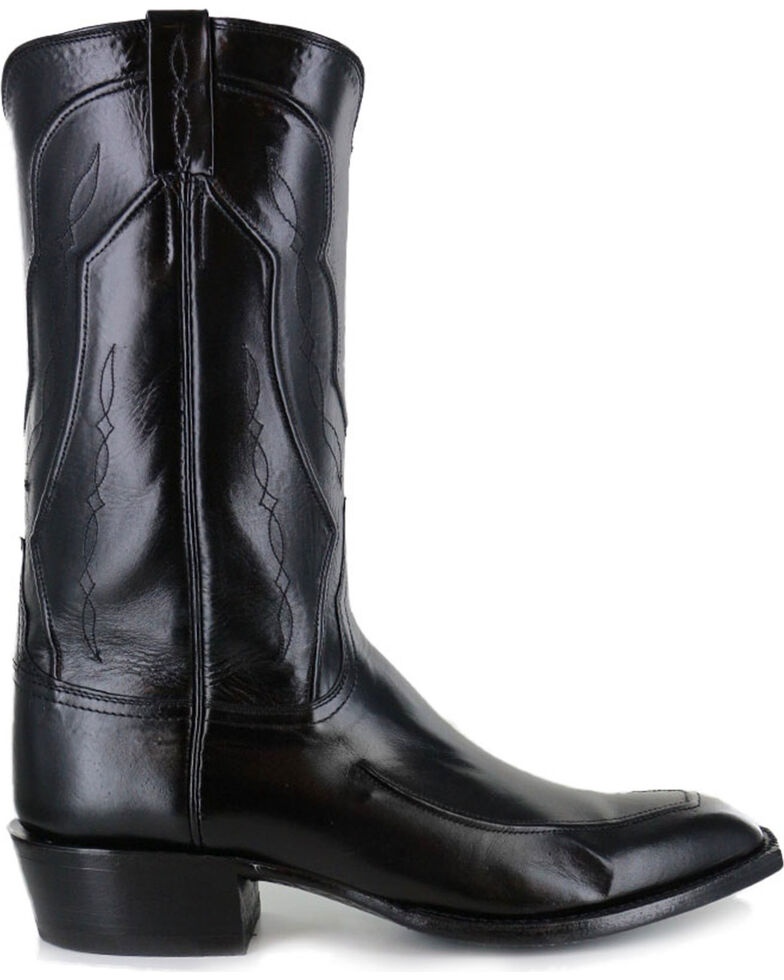 1a2f10f02e4 Lucchese Men's Handmade Black Kangaroo Leather Western Boots - Square Toe