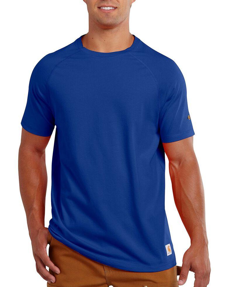 Carhartt Force Raglan Sleeve Work Shirt, Blue, hi-res