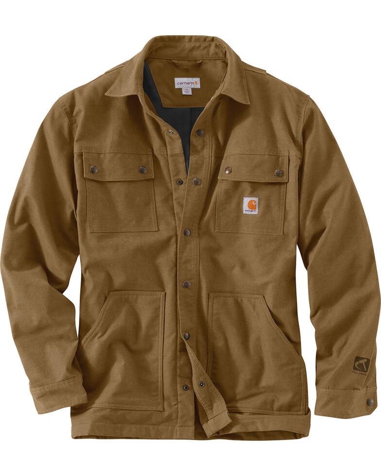 Carhartt Men's Full Swing Overland Shirt Work Jacket, Bark, hi-res