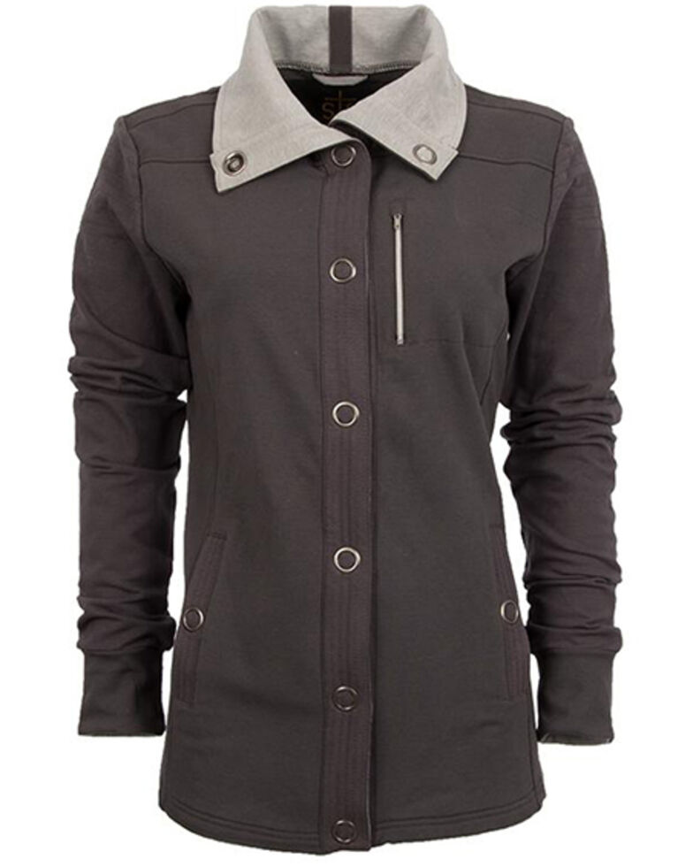 STS Ranchwear Women's Charcoal Button Up Jacket , Charcoal, hi-res
