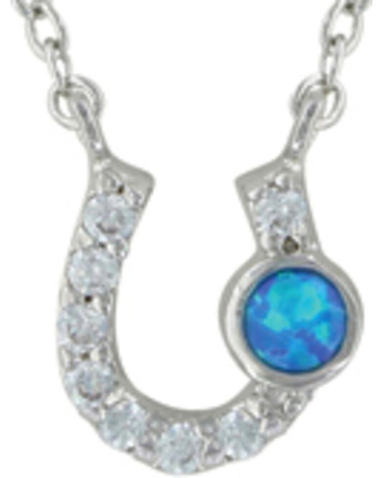 Montana Silversmiths Women's Silver Lightfoot Horseshoe Jewelry Set , Silver, hi-res