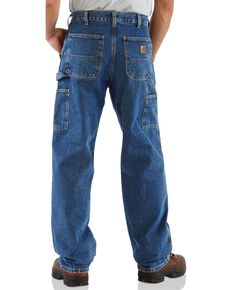 Carhartt Washed Denim Original Fit Work Dungaree Jeans, Dark Denim, hi-res