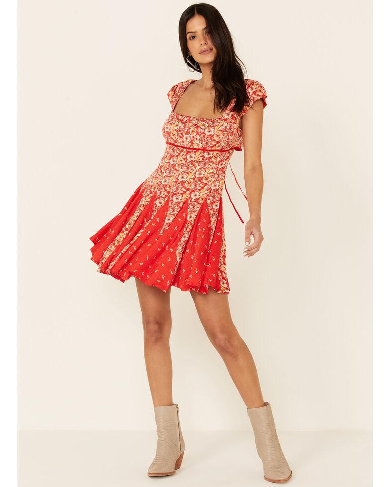 Free People Women's Ponderosa Mini Dress, Red, hi-res