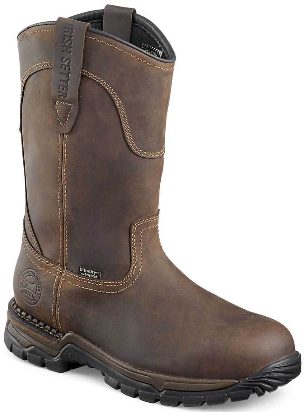Irish Setter by Red Wing Shoes Men's Two Harbors Pull-On Work Boots - Steel Toe , , hi-res