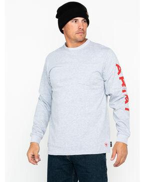 Ariat Men's FR Pocket Crew Logo T-Shirt, Heather Grey, hi-res