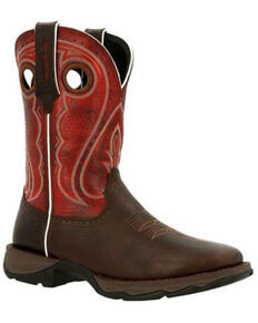 Durango Women's Lady Rebel Western Boots - Square Toe, Chestnut, hi-res