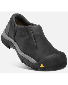 Keen Men's Black Brixten Low Waterproof Slip-On Hiking Shoe , Black, hi-res