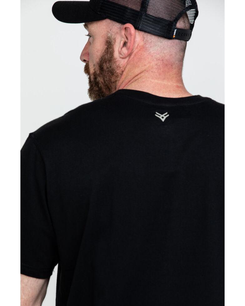 Hawx Men's Black Pocket Crew Short Sleeve Work T-Shirt - Tall , Black, hi-res