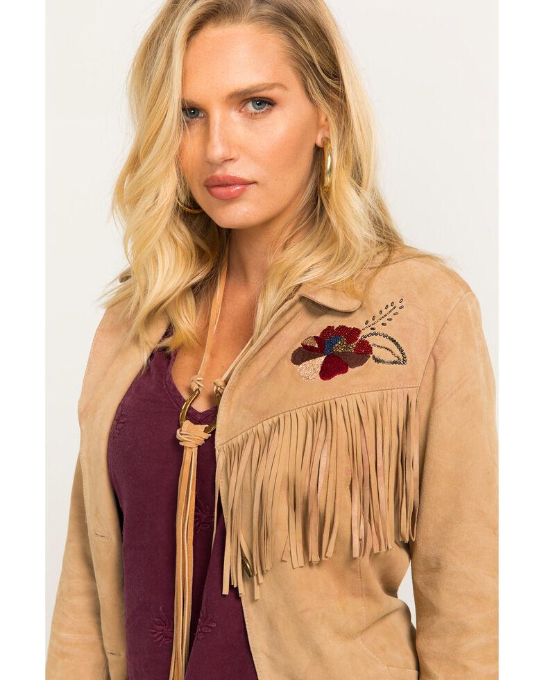 Idyllwind Women's Canyon Rose Suede Jacket, Tan, hi-res