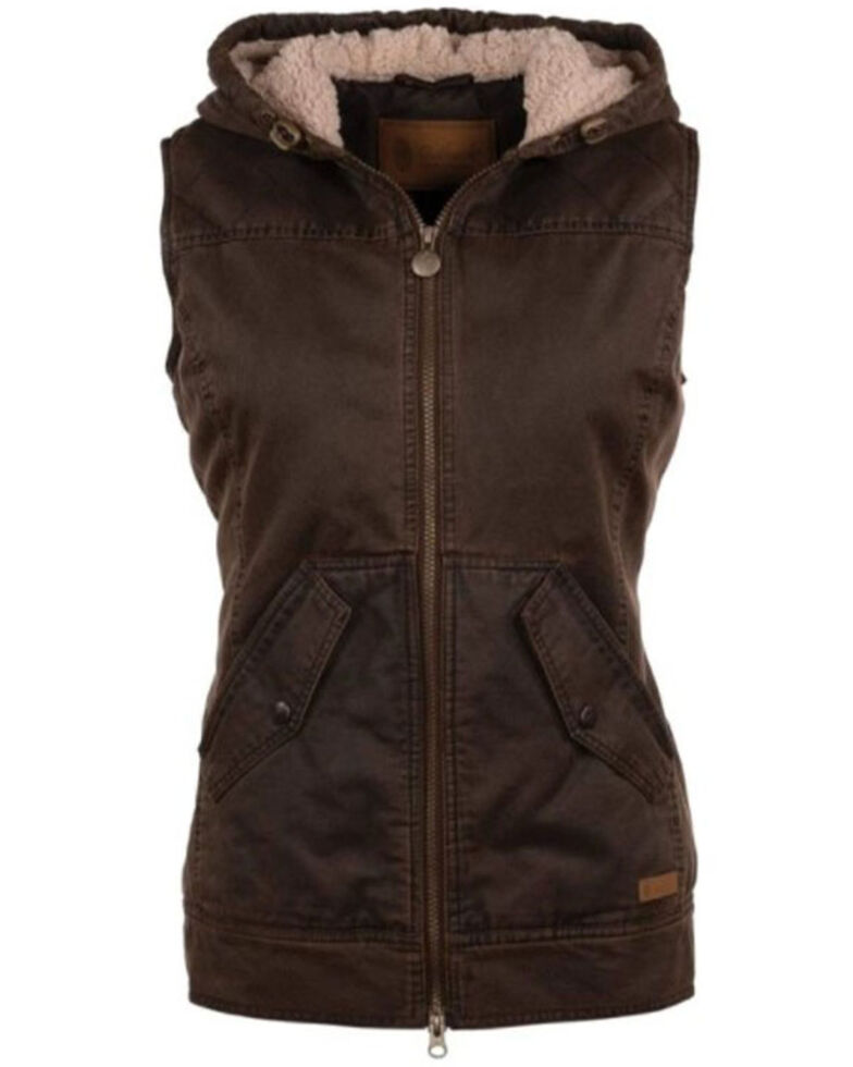 Outback Trading Co. Women's Brown Concealed Carry Heidi Vest, Brown, hi-res