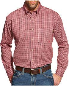 Ariat Men's Flame Resistant Wine Plaid Work Shirt - Big & Tall, Wine, hi-res