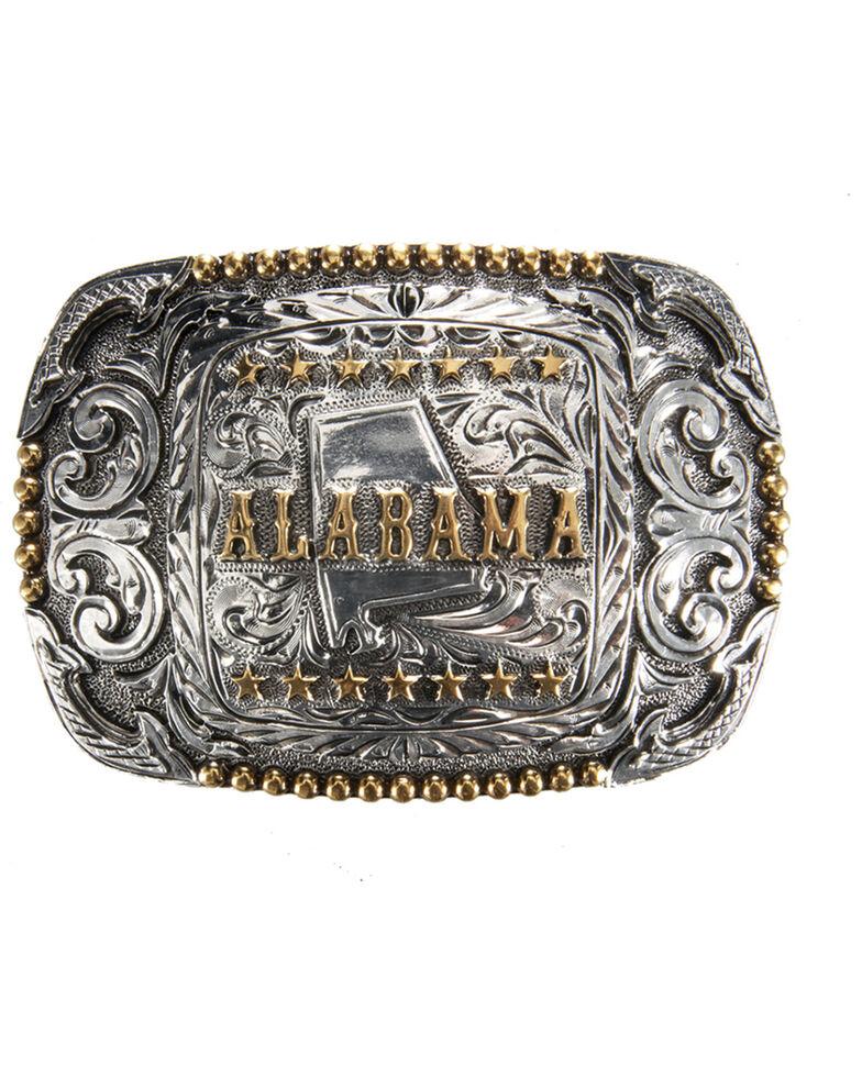 Cody James Men's Alabama Regional Belt Buckle, Silver, hi-res