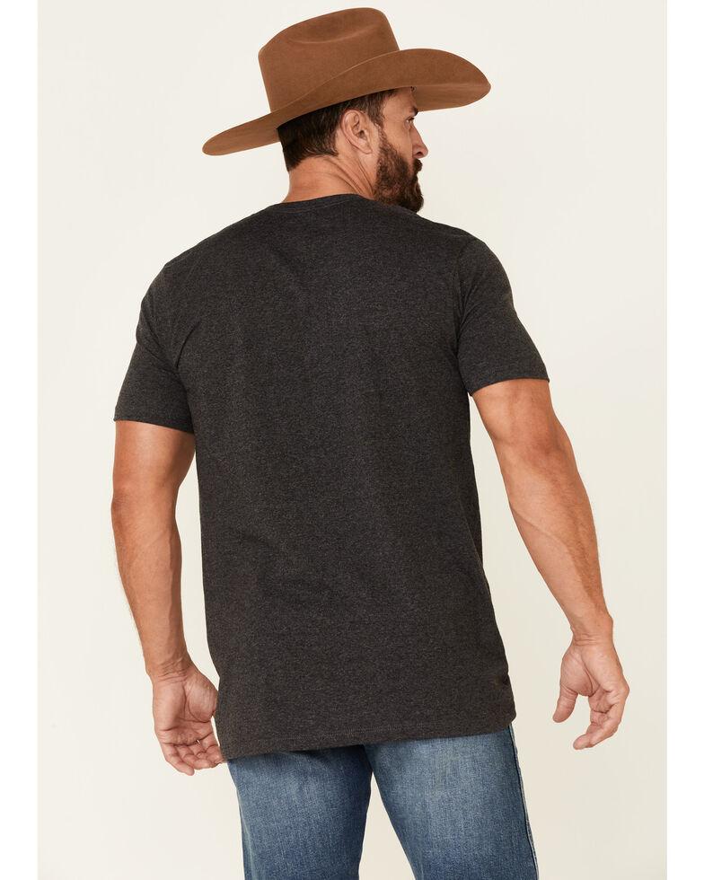 Cinch Men's Grey Lead Don't Follow Logo Short Sleeve T-Shirt , Heather Grey, hi-res